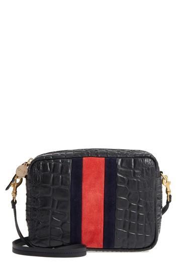 fa9c1adb8 Clare V Midi Sac Leather Crossbody Bag - Black In Black Croc | ModeSens