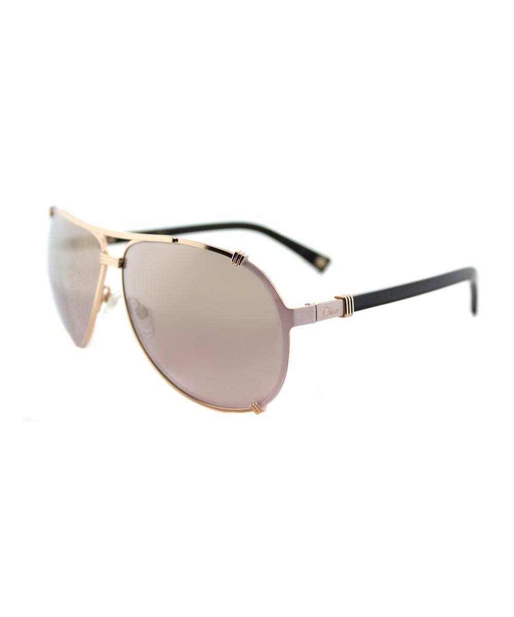 Dior Chicago 2 Aviator Metal Sunglasses' In Gold Pink Soft Black