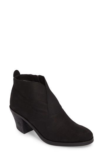 b83dc0eee5f4 Eileen Fisher Women s Murphy Nubuck Leather Mid Heel Booties In Black Nubuck
