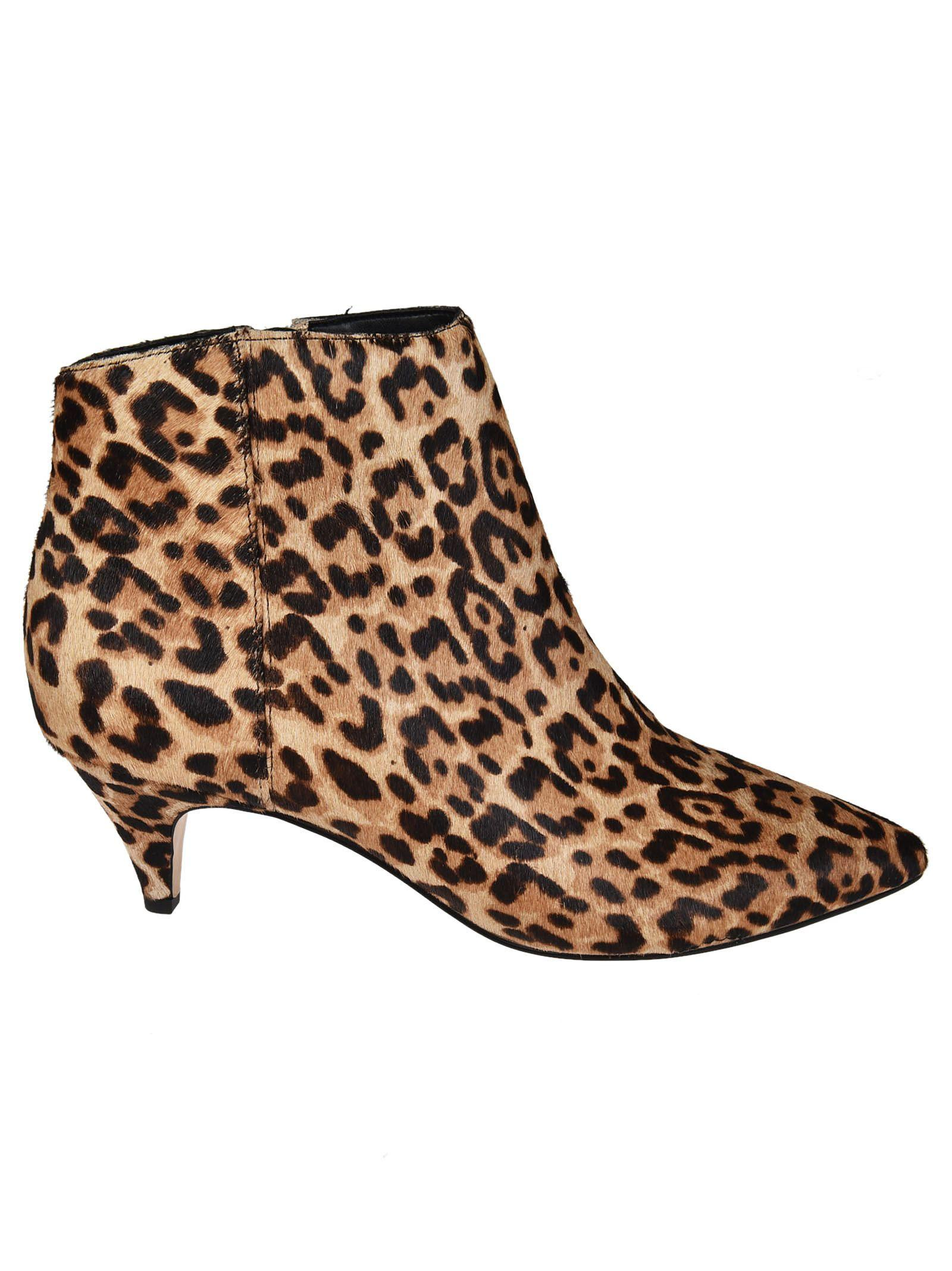6bb6389d4897 Sam Edelman Women s Kinzey Leopard Print Calf Hair Kitten-Heel Booties