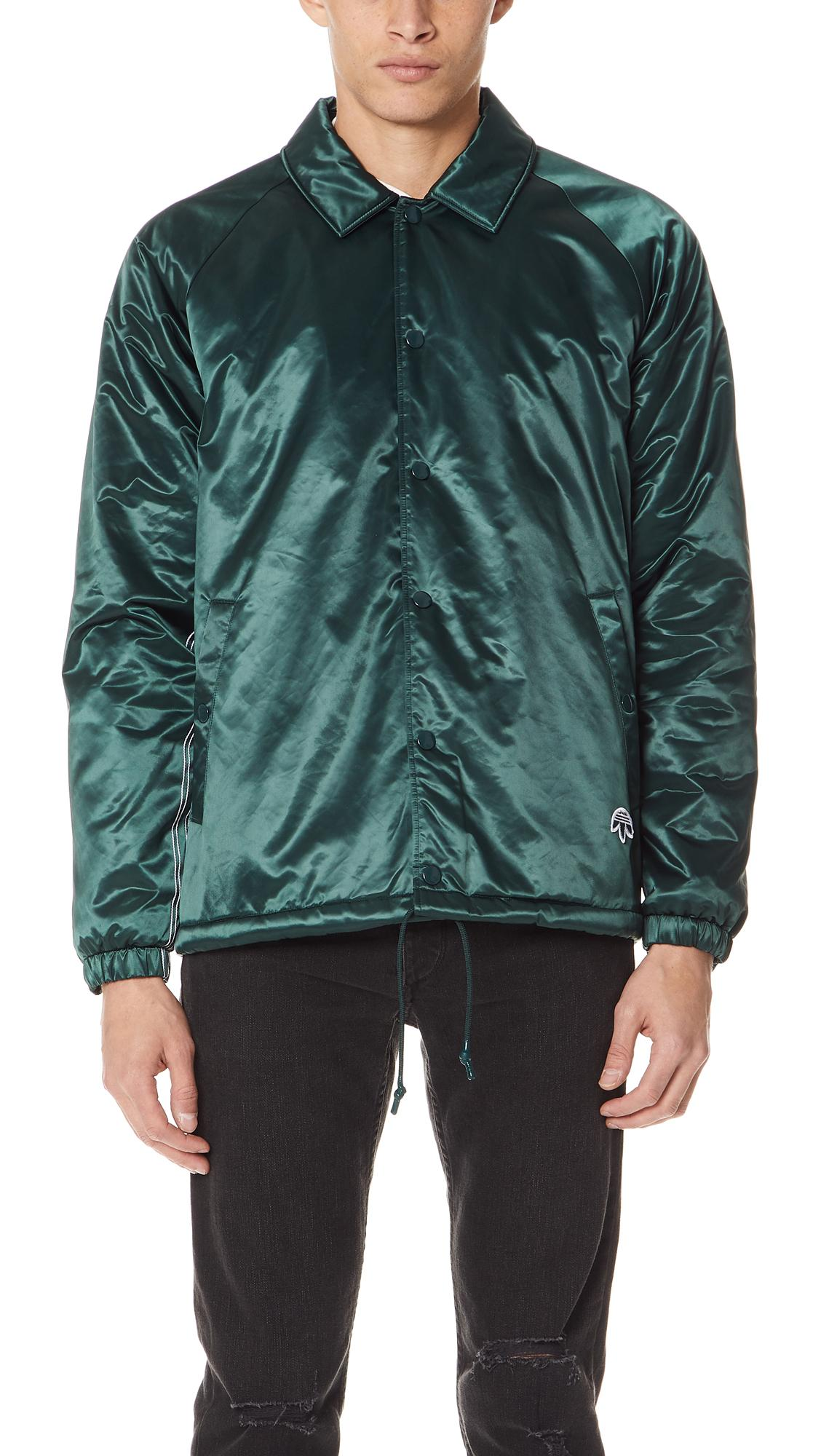 aa18325fac9424 Adidas Originals By Alexander Wang Green Nylon Coach Jacket
