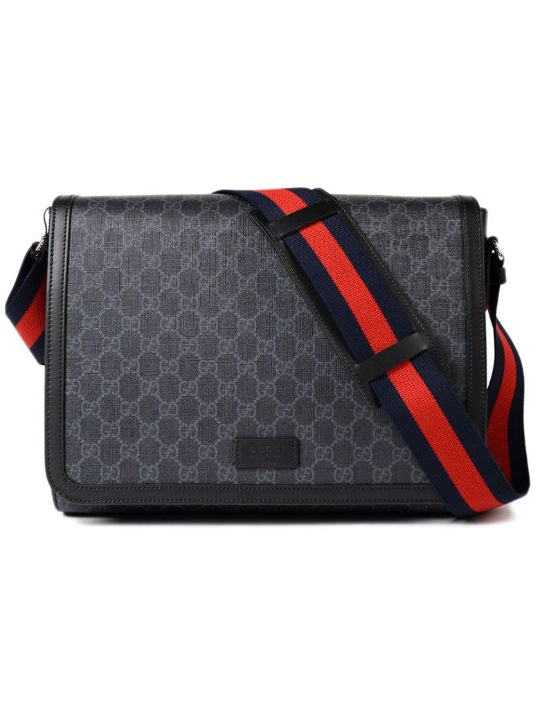 7ecfa37c8180 Gucci Black Gg Supreme Military Messenger Bag | ModeSens