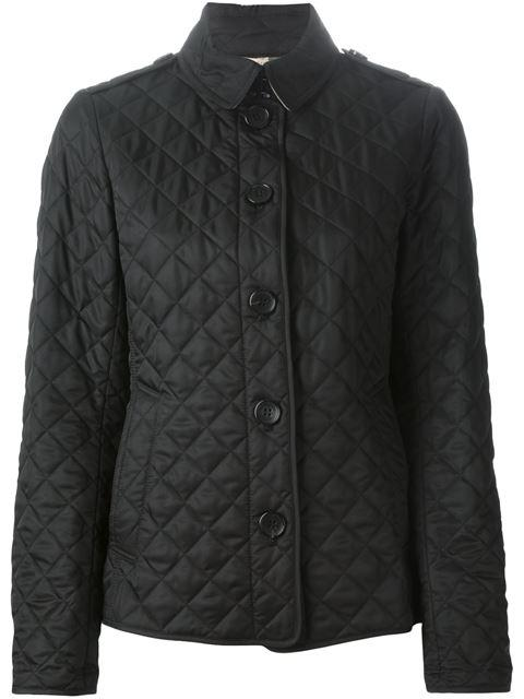 Burberry Diamond Quilted Jacket In Black
