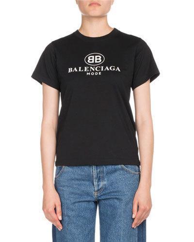 40ede7a7 Balenciaga Oversized Bb Mode Printed Jersey T-Shirt In Black   ModeSens