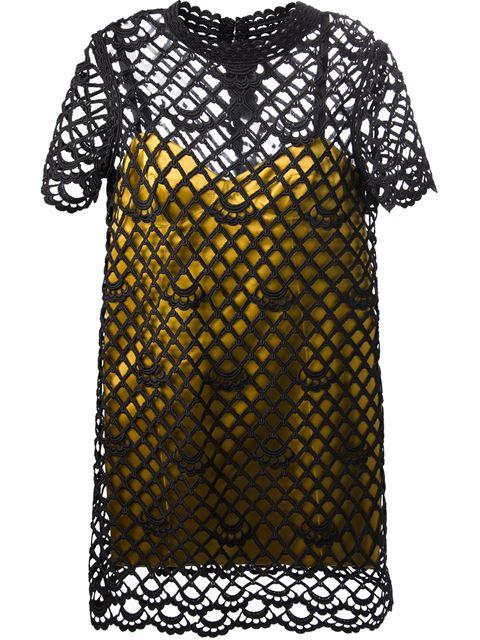 Marc Jacobs 'giupure Overlay Satin Slip' Dress