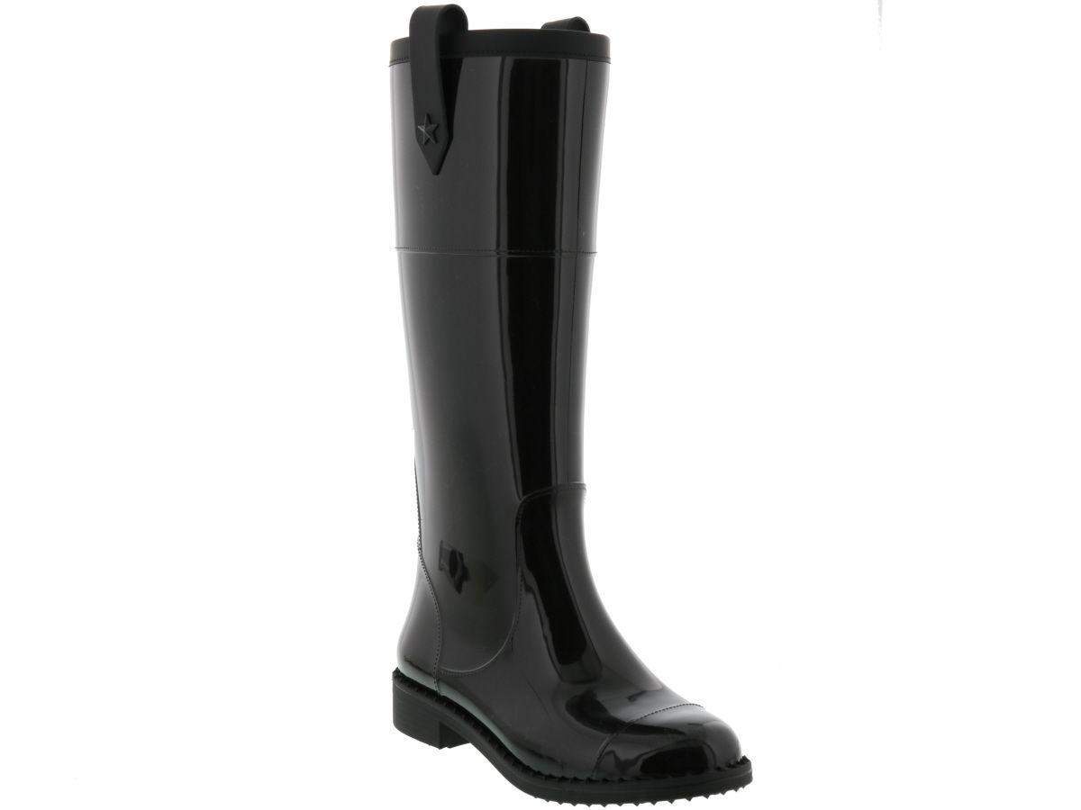 a6e2b9bcb7 Jimmy Choo Edith Tall Rubber Rain Boot, Black | ModeSens