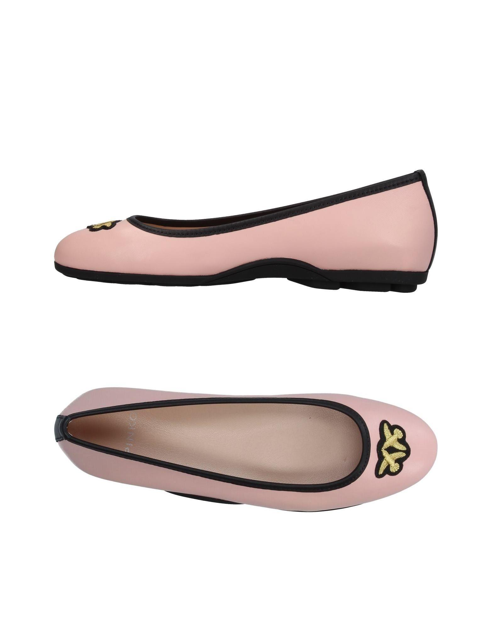 Pinko Ballet Flats In Light Pink
