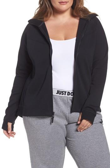 Nike Plus Size Sportswear Tech Fleece Hoodie In Black