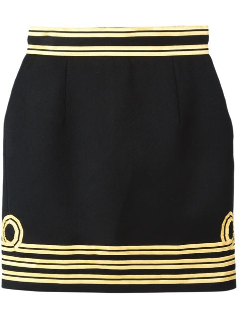 Dsquared2 Contrast Piped Trim Skirt