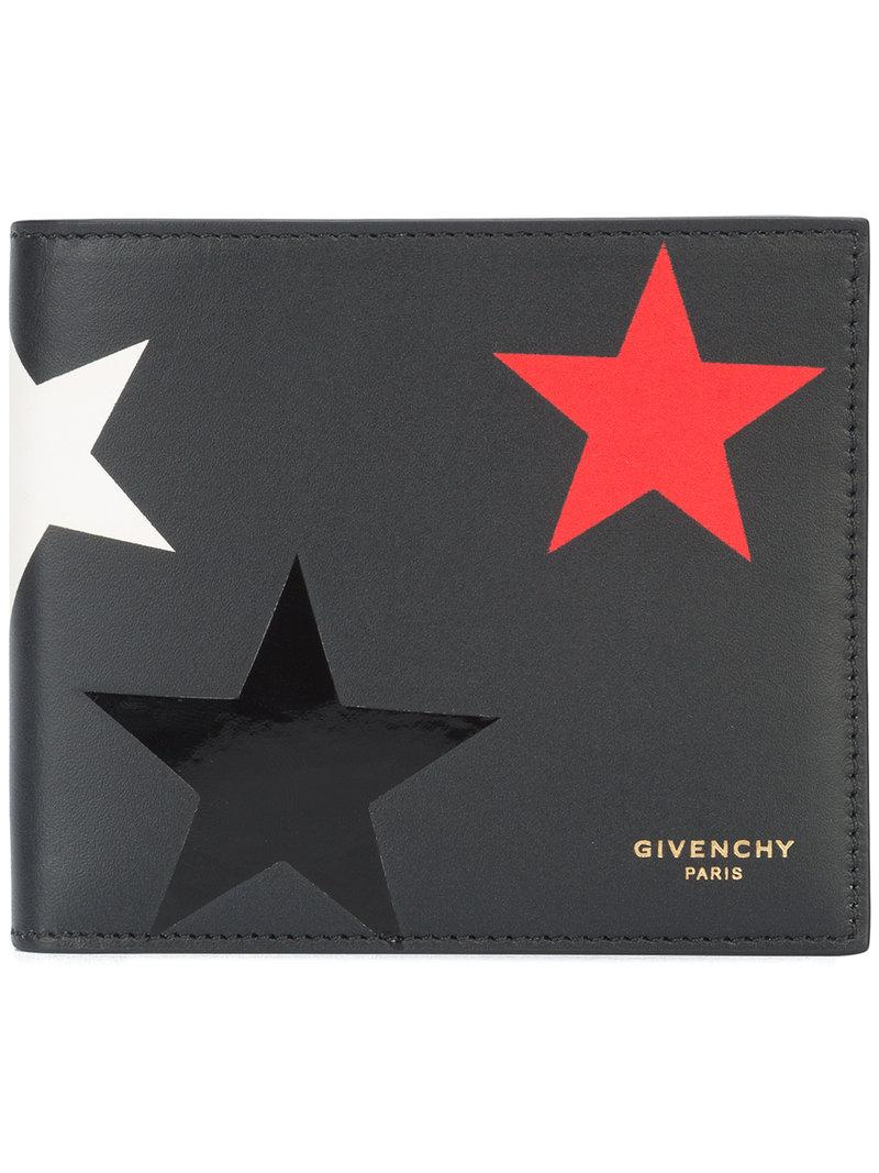 3ce1a3d274 Givenchy Star Printed Leather Billfold Wallet In Black Red | ModeSens