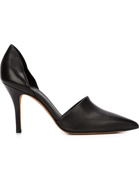 Vince Claire Calf Hair & Leather D'Orsay Pumps In Black