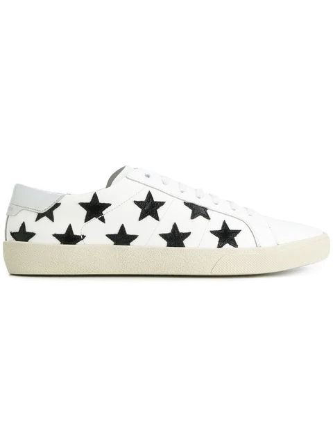 Saint Laurent Sl-06 Signature Court Classic California Sneakers In White