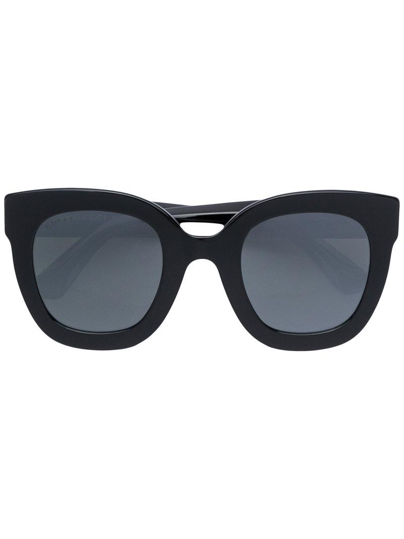8b3dccce1a Gucci Round-Frame Acetate Sunglasses With Star In Black