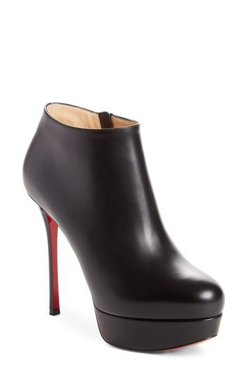 b47342ce562f Christian Louboutin Dirdibootie Leather Platform Ankle Booties In Black