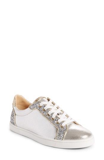 863976b495f1 Christian Louboutin Seava Woman Flat Sneakers - Version Silver ...