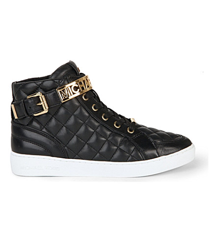 5d990f53c2b44 Michael Michael Kors Essex Leather High-Top Trainers In Black