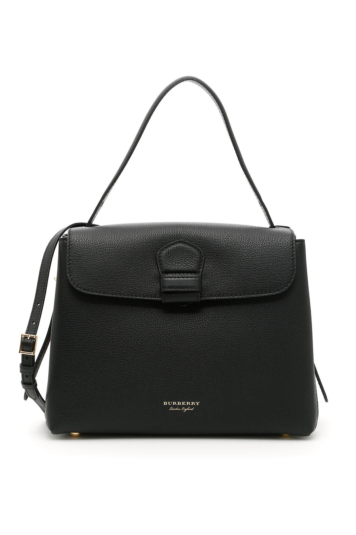 239f7cfd80 Burberry Medium Camberley Leather & House Check Top Handle Satchel In Black