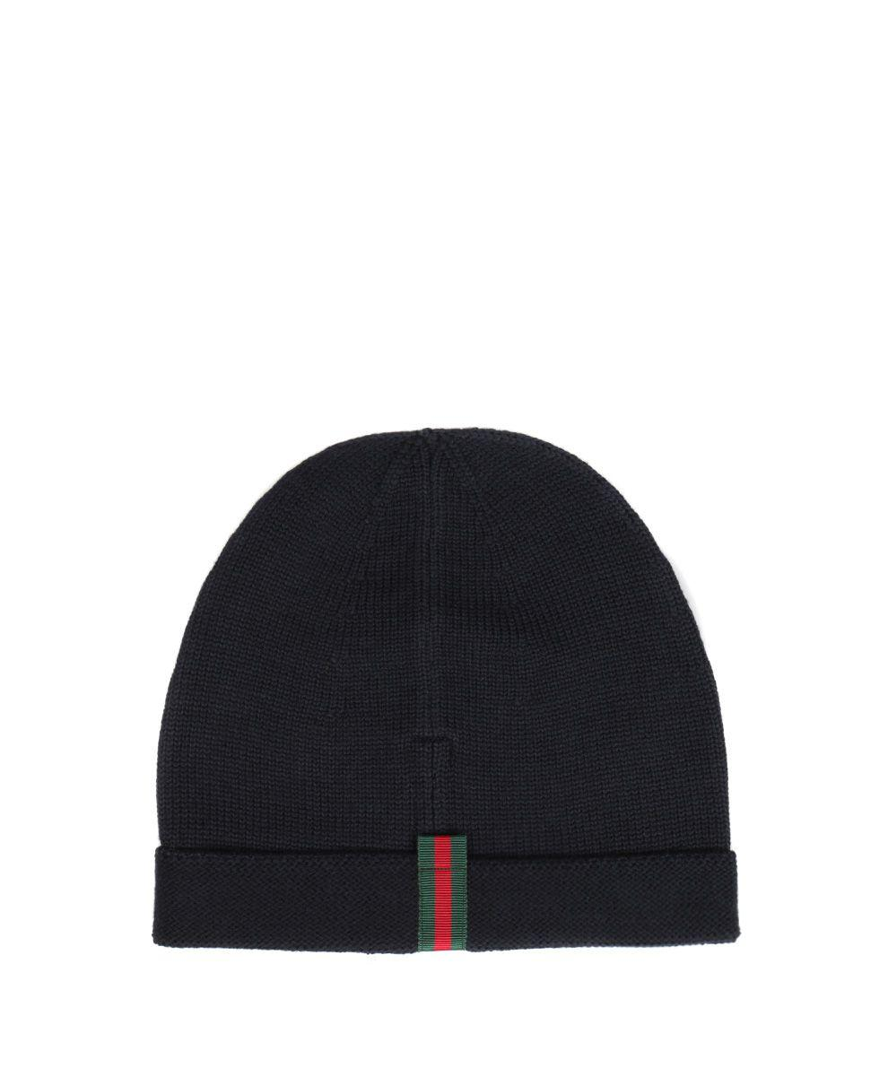 0a835065d56 Gucci Web-AppliquÉ Wool Beanie Hat In Blue