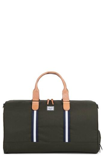 0ff930b310a Herschel Supply Co. Offset Collection Novel Duffel In Forest Green Veggie  Tan Leather