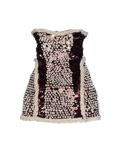 Dsquared2 Short Dress In Cocoa