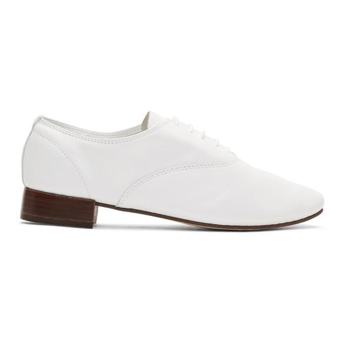 Repetto White Zizi Oxfords In 050 White