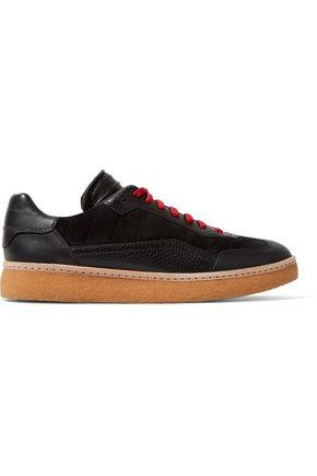 Alexander Wang Woman Eden Paneled Leather And Suede Sneakers Black
