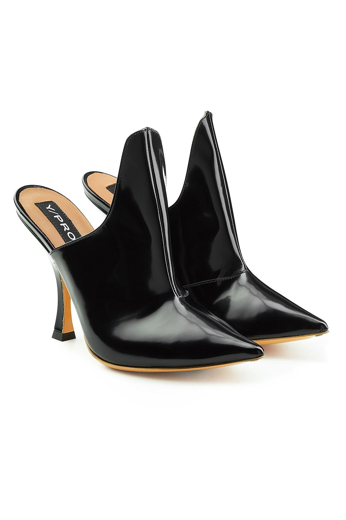 9a9278775ecb Y Project Y Project Leather Stefania Mules In Black