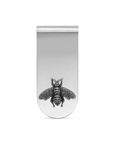 Gucci Money Clip With Bee In Silver In Sterling Silver