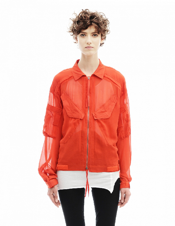 A.F.Vandevorst Silk Jacket In Red