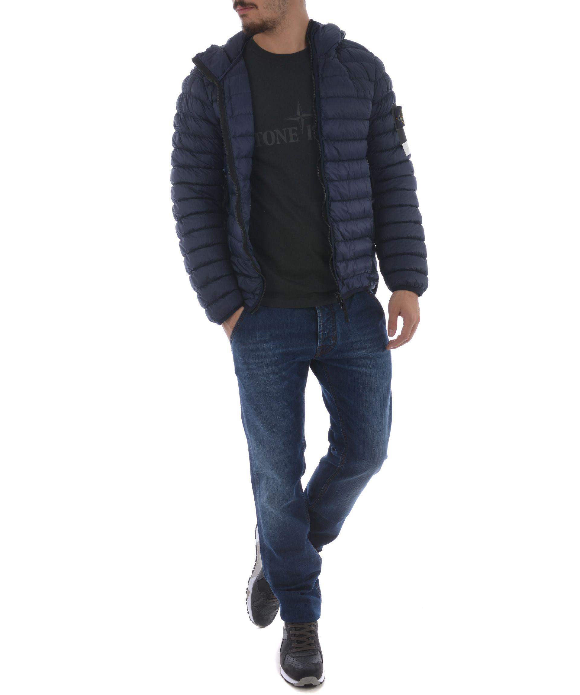 later attractive price huge sale Stone Island Padded Garment Dyed Micro Yarn Down Jacket | ModeSens