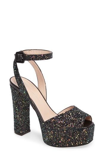 97a73d2ae7a8b Giuseppe Zanotti Lavinia Ankle Strap Platform Sandal In Black Glitt ...