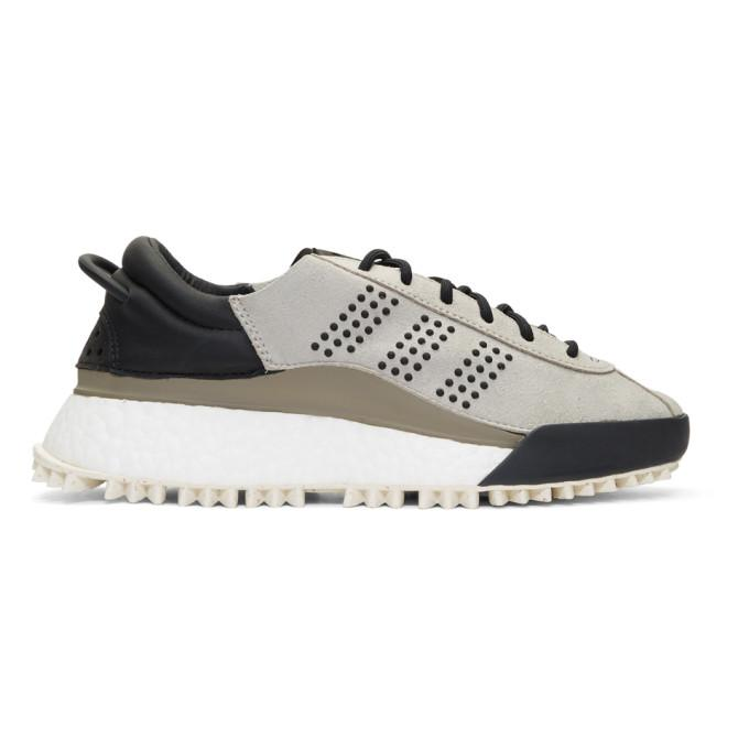 531ad127dc4081 Adidas Originals By Alexander Wang Hike Low Top Sneakers With Leather And  Suede In Grey
