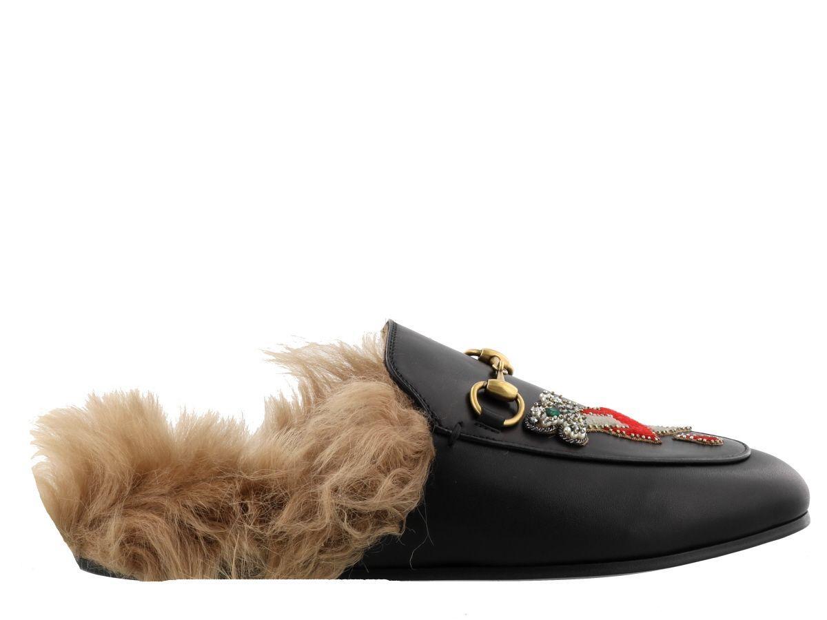 c222e26dc87 Gucci Princetown Slipper With Appliqu S In Black