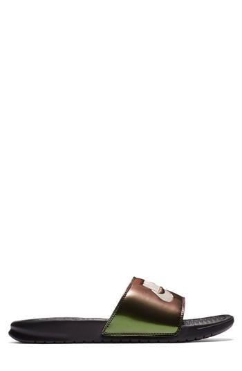 f2657cd8b31 Nike Women S Benassi Jdi Print Slide Sandals From Finish Line In Black