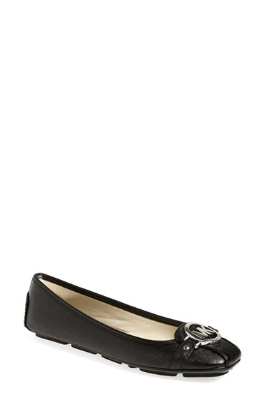 Michael Michael Kors Fulton Color Block Moccasin Flats In Blk/other
