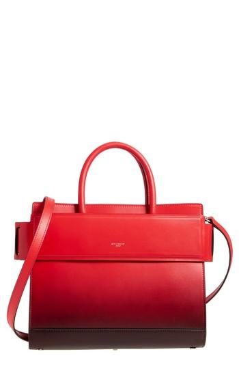 1393898028 Givenchy Small Horizon Degrade Leather Tote - Black In Black Red ...