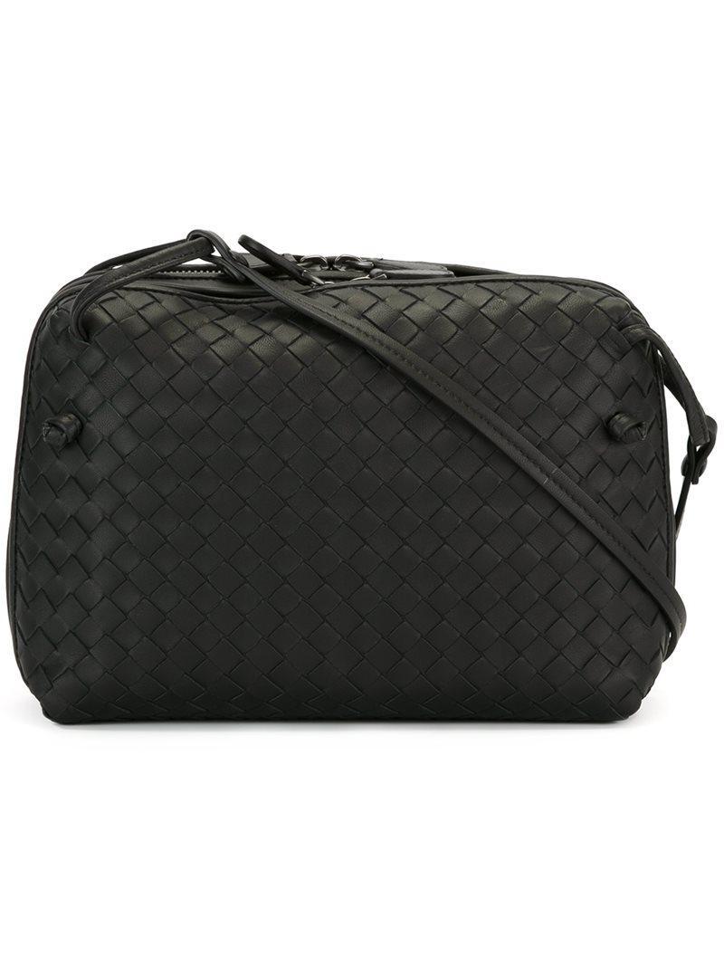 1717d69aa2 BOTTEGA VENETA. Bottega Veneta Textured Crossbody Bag - Black