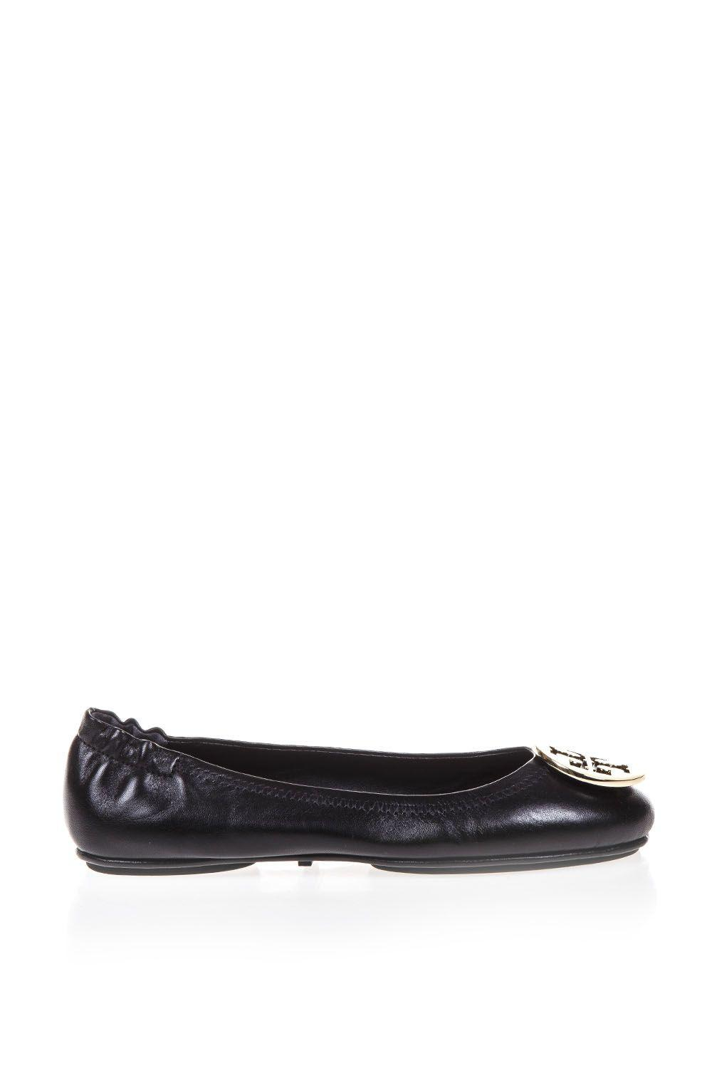 175570f52 Tory Burch Black Minnie Travel Ballet Flat In Leather In Blk Other ...