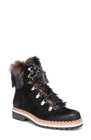 54d7786d8 Sam Edelman Women s Bronte Suede   Faux-Fur Booties In Black Dark Multi