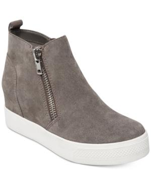 deb31118e4b Steve Madden Wedgie High Top Platform Sneaker In Grey Suede