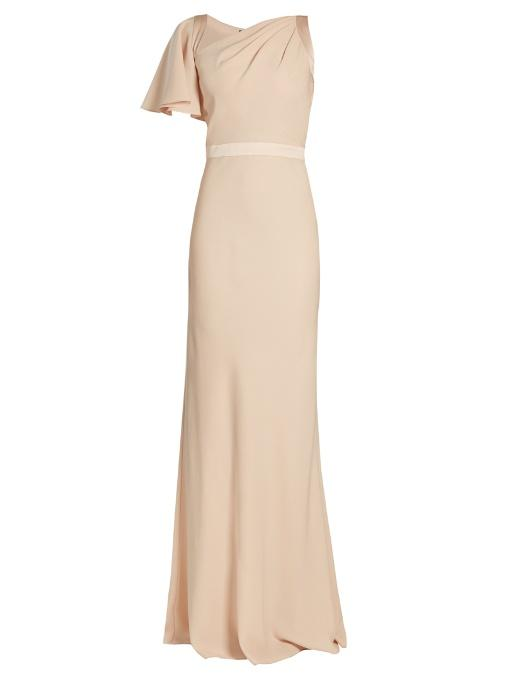 9d881defc4ae7 Alexander Mcqueen Asymmetric One-Shoulder Crepe Gown In Blush | ModeSens
