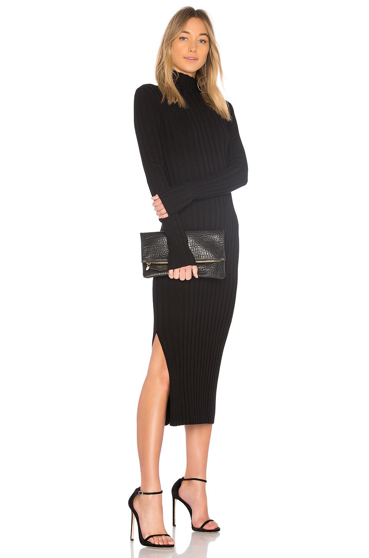 88322355c77 Theory Ribbed-Knit Turtleneck Midi Dress In Black