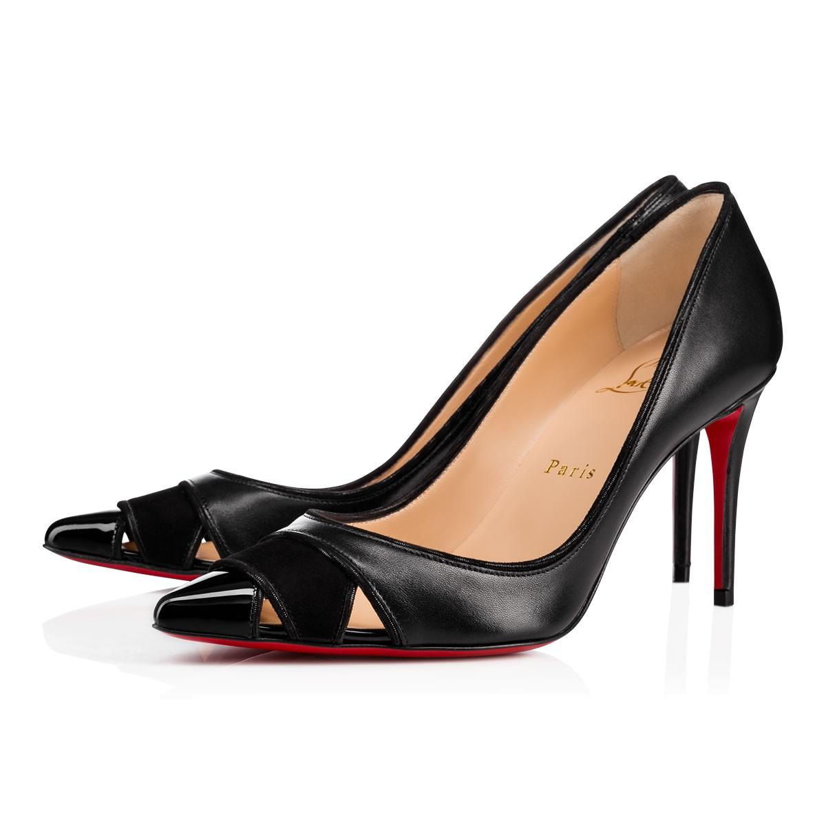 c778a6ae6c6a Christian Louboutin Biblio Leather 85Mm Red Sole Pump In Black ...