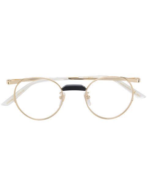 c8c1aadc65 Gucci Round-Frame Gold-Tone Optical Glasses