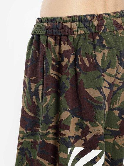 58164186 Off-White Off White C/O Virgil Abloh Men's Green Camouflage Diag Oversize  Shorts