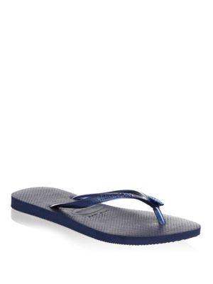 29c83aaad Havaianas Slim Crystal Poem Flip Flops In Navy Blue