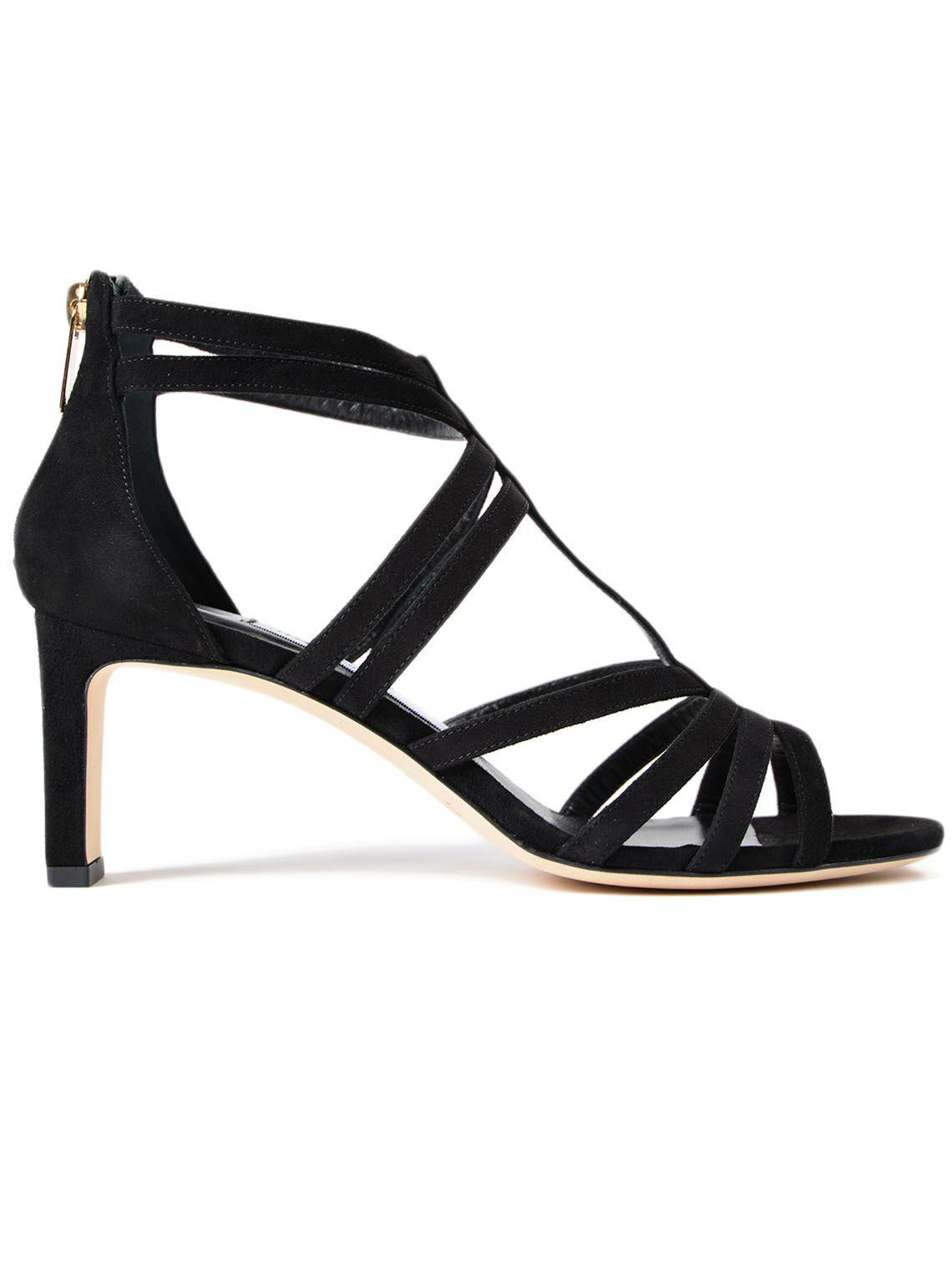 26a65c6481eb Jimmy Choo Selina Suede Strappy 65Mm Sandals In Black