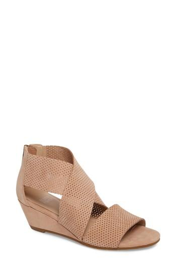 9f91078bd4ec Eileen Fisher Kes 2 Perforated Wedge Sandals In Wheat | ModeSens