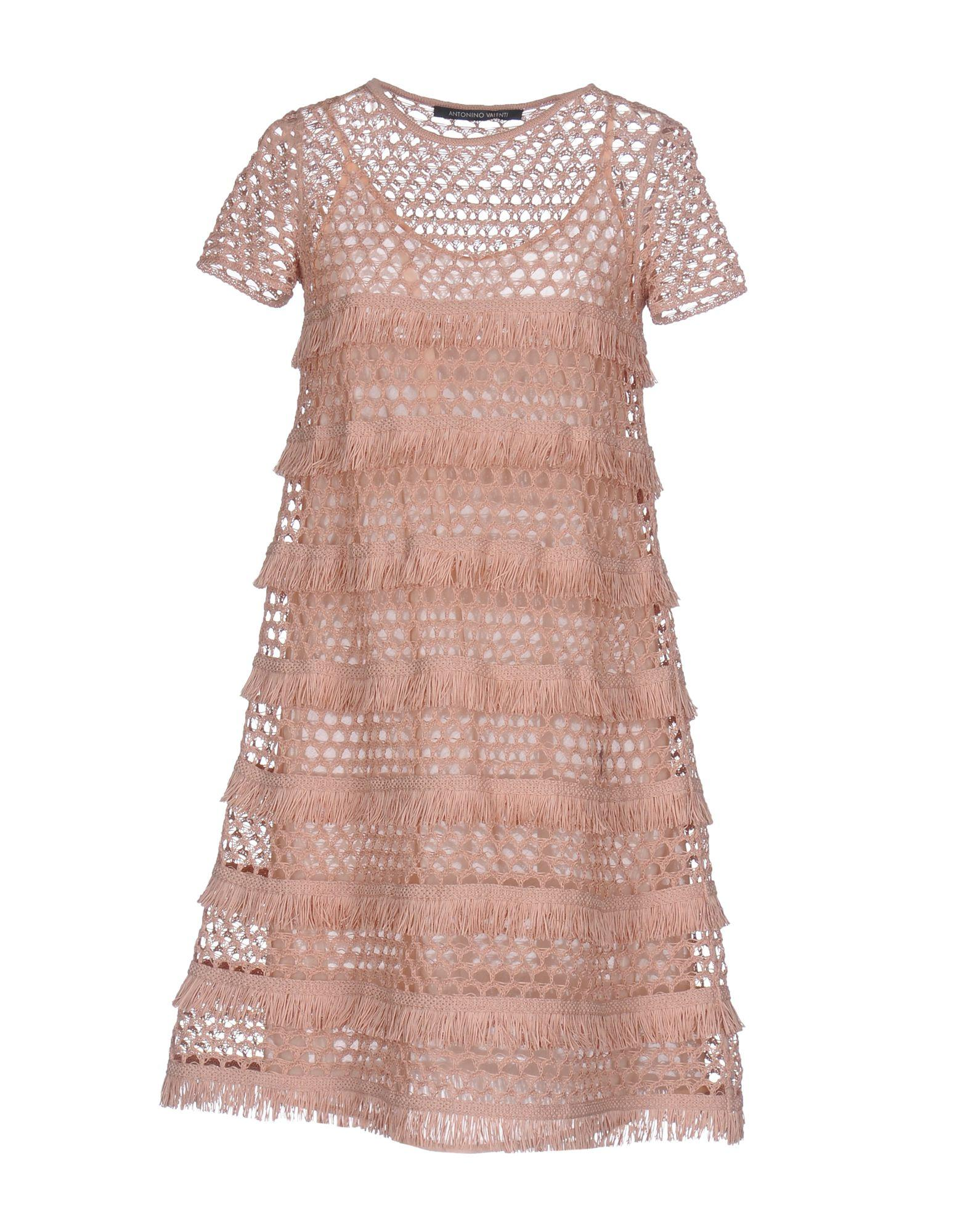 Antonino Valenti Short Dress In Pastel Pink