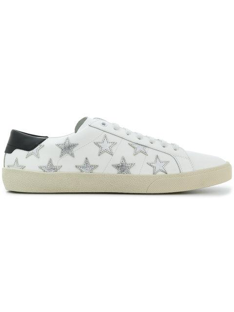 Saint Laurent Low-top Sneakers R Signnature California Calfskin Logo Patch White-combo In 9082 White